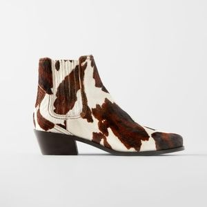 NEW | Zara | Animal Print Ankle Boots